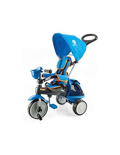PL Ociotrends 120T Triciclo Ranger Blu Imbottito con Borsa e Capottina 73X48X98 cm, Bambini Unisex, Multicolore