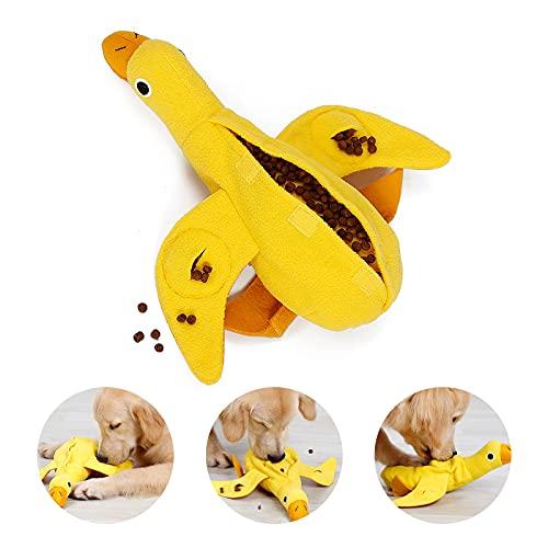 PEDOMUS Hundespielzeug Ente Hunde Spielzeug für Welpen kleine mittlere Hunde Haustiere Quietschspielzeug Plüschtiere Ausbildung IQ Training Spielzeug Lernspielzeug Interaktives Spielzeug