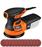 TACKLIFE 5-in Random Orbit Sander, 6 Variable Speed 3A(350W)/13000RPM Sander with 12Pcs Sandpapers