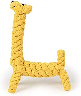 DORLIONA Pet Dog Chew Toy Animal Shape Cotton Rope Braided Toy Bite-Resistant Molars Teeth Clean Toy for Medium Large Dogs...