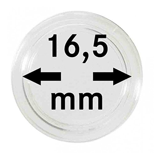 LINDNER Das Original Münzkapseln Innen-Ø 16,5 mm, 10er-Packung