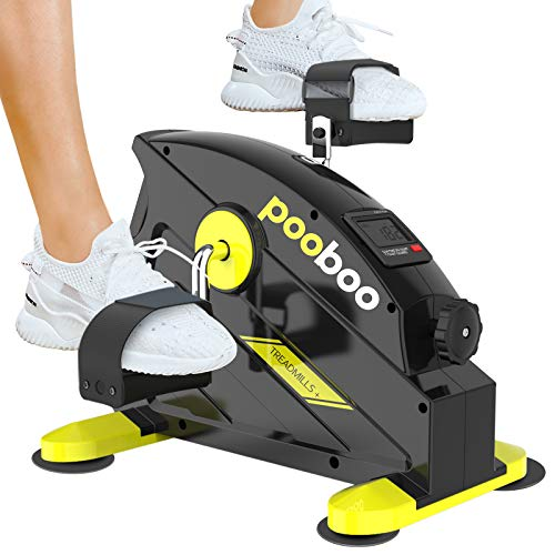 pooboo Pedal Exerciser Under Desk Bike Stationary Exercise Portable Mini Cycle Bike for Legs and Arms Exercise Bikes