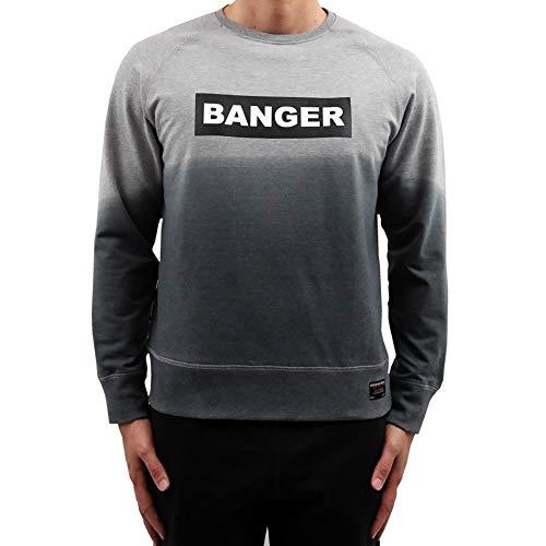 Banger Musik Sweater dip dye grau (M)