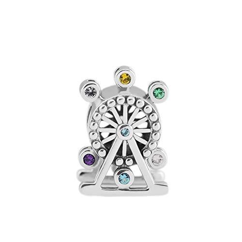 Pandora 925 Sterling Silver DIY Jewelry CharmKeyring para pulsera pulsera de cristal multicolor con cuentas para hacer joyas kr