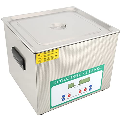 Limpiador de calentamiento de sincronización digital de lavadora ultrasónica de 15L 360W para limpieza de anillos de joyería(EU plug)