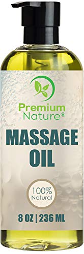 Massage Essential Oil Skin Therapy - 8 oz Grapefruit & Lemongrass Scent Natural Hypoallergenic Relaxing Oil - Great for Aromatherapy - by Premium Nature