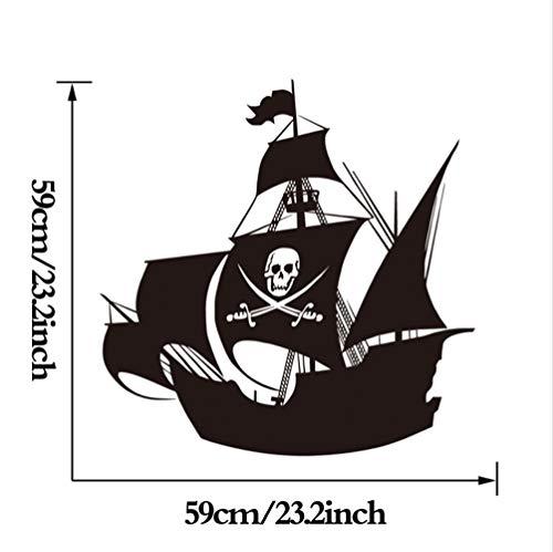 hllhpc Pegatinas De Pared De Barco Pirata para La Habitación De ...