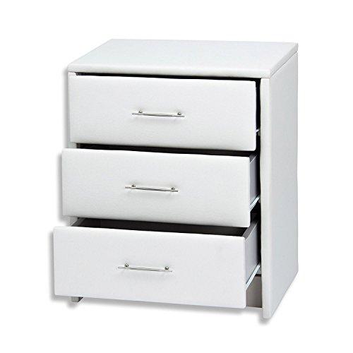 Nachttisch Helsinki mit 3 Schubladen Farbe: Weiß
