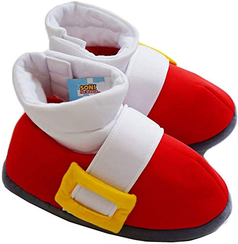 Sonic the Hedgehog Red Running Shoes Plush Cosplay Slippers   One Size