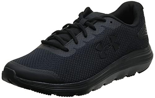 Under Armour Men's Surge 2 Running Shoe, Black (002)/Black, 10