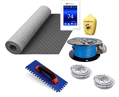 Suntouch Warmwire Radiant Floor Heating Kit - 60 Square Feet - Includes Suntouch Command Thermostat, HeatMatrix Membrane, 120060WB-CST Heat Cable and Safe Installation Tools