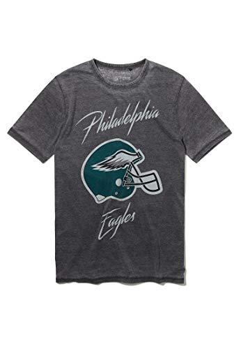 Recovered NFL Philadephia Eagles Helmet Print Charcoal T-Shirt Size M
