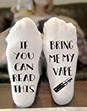 If You Can Read This Bring Me My Vape Novelty Funky Crew Socks Men Women Christmas Gifts Cotton Slipper Socks