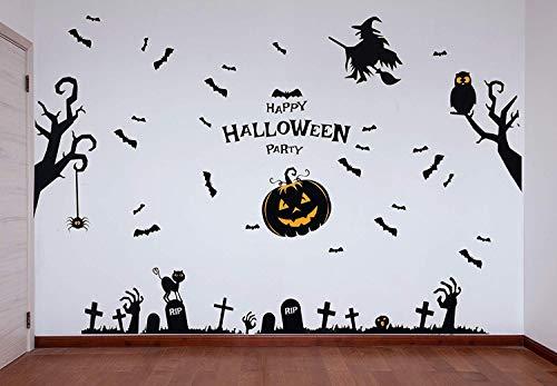 THE TWIDDLERS Decoración de Paredes para Halloween - Mural Pegatinas Decorar Fiestas de Halloween - Accesorios Ideales