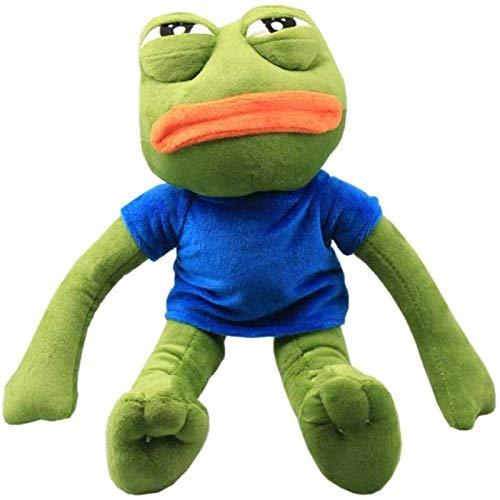 Cartoon Pepe Sad Frog Plush Toy 50 Cm Children's Soft Plush Animal Toy Net Red Cute Sad Frog Frog Doll Plush Toy Ugly Doll Doll Funny Birthday Gift