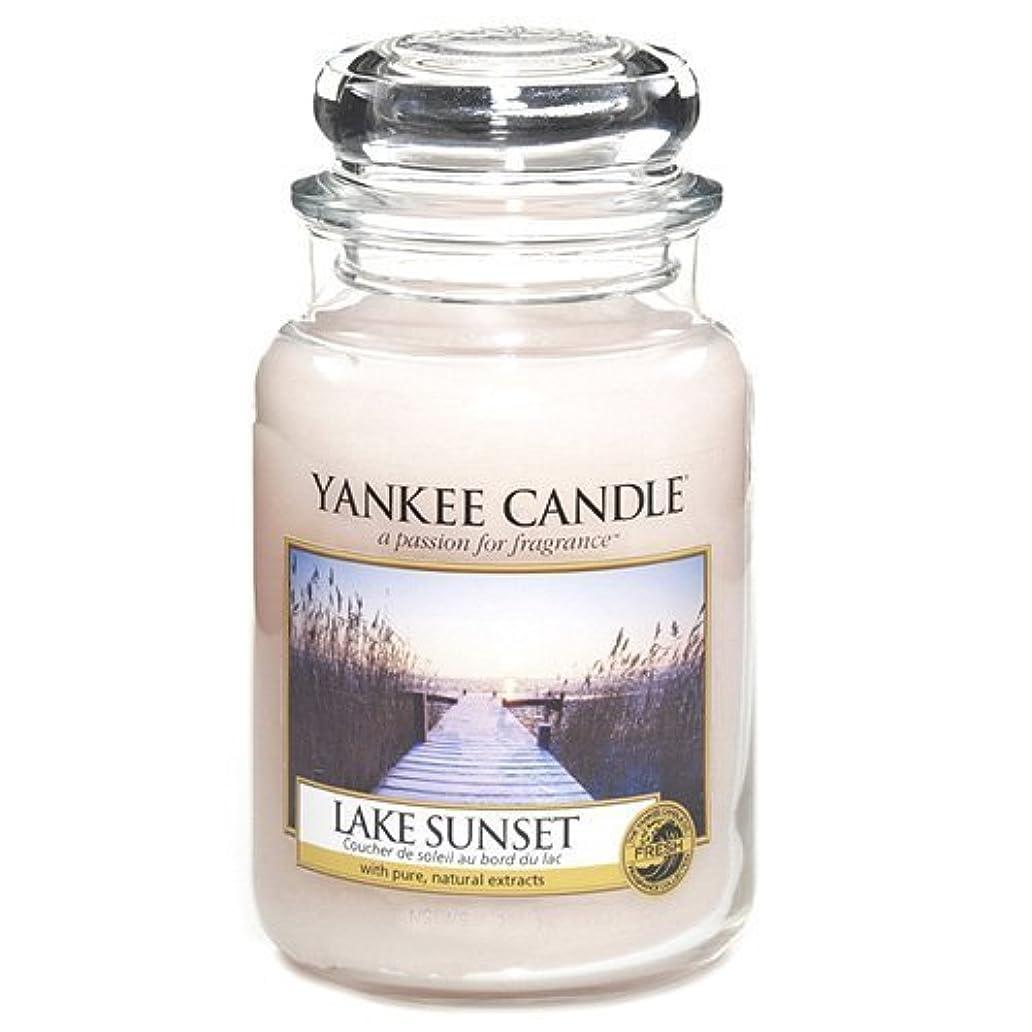 スーダン慈悲深い些細Yankee Candle Large Jar Candle, Lake Sunset by Yankee [並行輸入品]