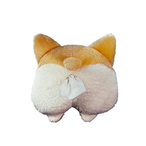 Sundlight Plush Dog/Cat Hip Shape Tissue Holder Tissue Box Cartoon Tissue Cover Paper Holder Napkin Box Paper Storage Box Tissue Tray Paper Container for Car