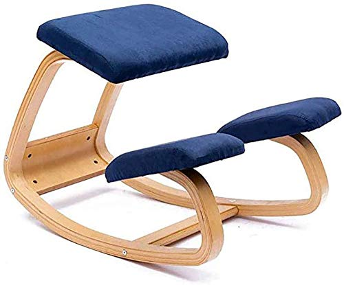 YAMMY Office for Knee Chairs, Ergonomic Kneeling Chair, Adjustable Kneeling Chair with Wooden Frame, Rocking Orthopaedic Posture Chairs, Balance S(Kneeling chair)