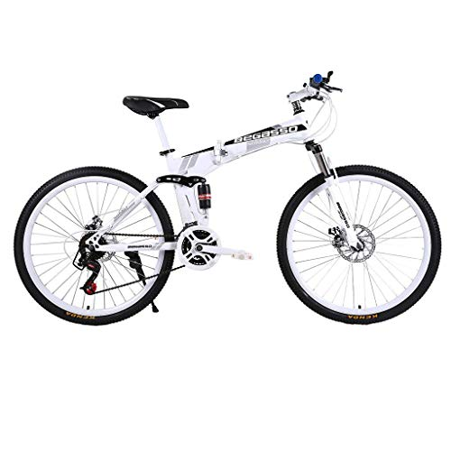 Mountain Bike Adult 26 Inch Wheels Folding Variable Speed Bicycle Mountain Trail Bike Carbon Steel Outroad Portable Road Bicycles Adult Men Women Bike suitable for the Outdoor Cycle - 21 Speeds