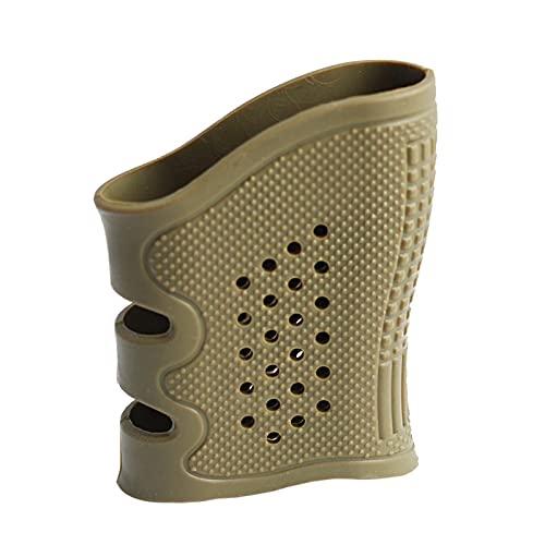 ZRNG Tactical Pistol Gomma Grip Holster Anti Slip Glove Guanto Sleeve Protect Cover Handgun Glock 17 19 20 21 22 23 Accessori per Pistole da Caccia (Color : Amry Green)