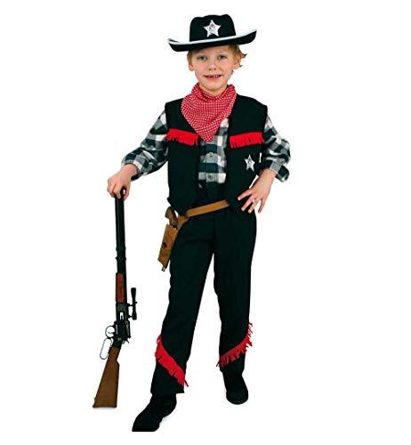 KarnevalsTeufel Cowboy Sheriff Set 6-teilig Wilder Westen, Saloon, Revolverheld (140)