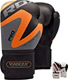RDX Boxing Gloves for Training & Muay Thai - Maya Hide Leather Mitts for Sparring, Fighting & Kickboxing  Good for Punch Bag, Focus Pads, Grappling Dummy and Double End Speed Ball Punching