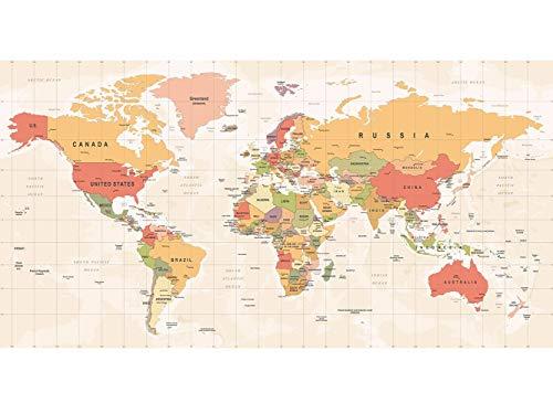 Oedim Papier Peint Auto-Adhésif | Mapamundi Carte du Monde | 500 x 300 cm | Décoration muraux de Chambre