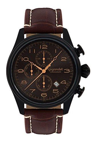 Gigandet G41-005 - Reloj para Hombres, Correa de Cuero Color marrón