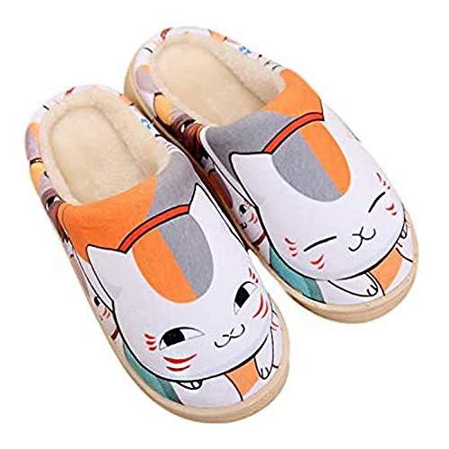 YZJYB Zapatillas Hombre Mujer Invierno Memory Foam Casa Zapatos 3D Madara Antideslizante Pantuflas Unisex Invierno/Verano Máxima Comodidad Slippers,UK 9~11/EU 44~46(300)