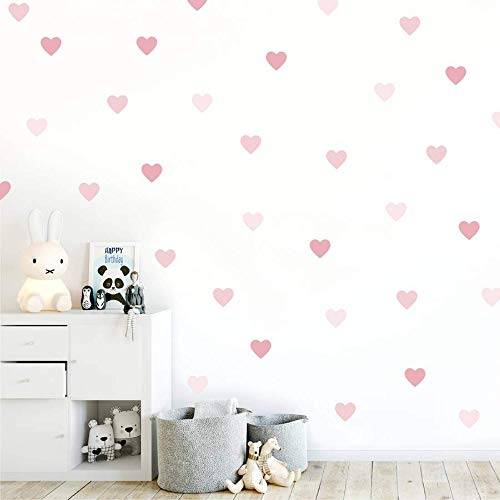My Nametags, adorabili adesivi da parete per la cameretta dei bambini, diversi disegni da posizionare a piacimento (Cuore rosa)