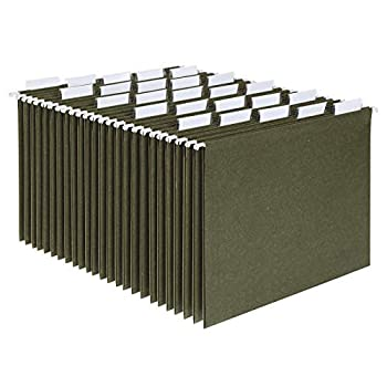 Pendaflex Hanging File Folders Letter Size Standard Green 1/5-Cut Adjustable Tabs 25 Per Box  81602  Standard Green - 1/5 Tabs