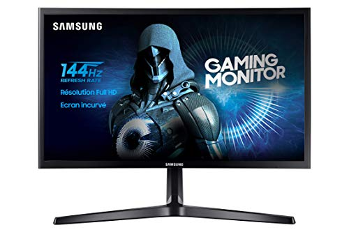 Samsung C24RG50 Monitor Gaming Curvo, 24 Pollici, Full HD, FHD, 1920 x 1080, 4 ms, 16:9, 144 Hz, 1080p, FreeSync, 1 Display Port, 2 HDMI, Base a Doppio Snodo, Nero