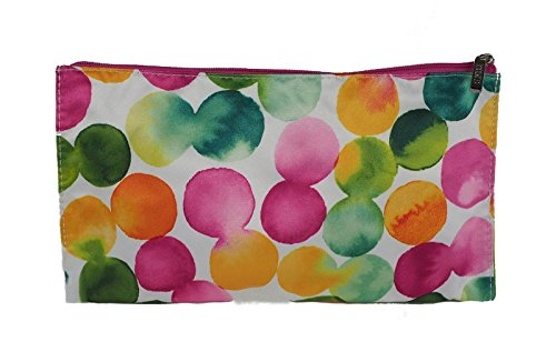 Clinique Colorful Pink Green Orange Yellow Dot Cosmetic Travel Makeup Bag