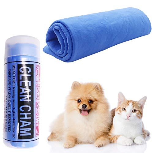 YUESEN Toalla Microfibra Perros Toallas para Mascotas Secado Rápido Absorbentes Suaves y Cómodas Lavable Paragatos y Animales Perros Pequeños Medianos 43 * 32 cm