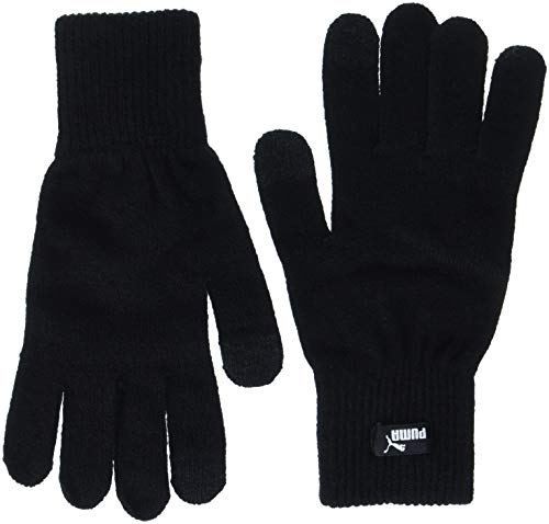 PUMA Knit N.1 Logo Handschuhe, Black, M