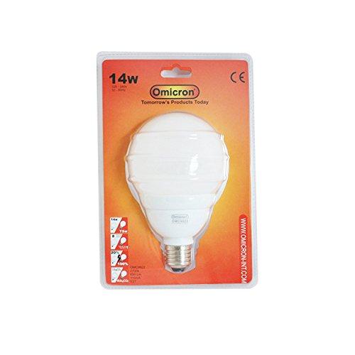 14 Omicron Ampoule sphérique fluocompacte W Culot Edison à vis