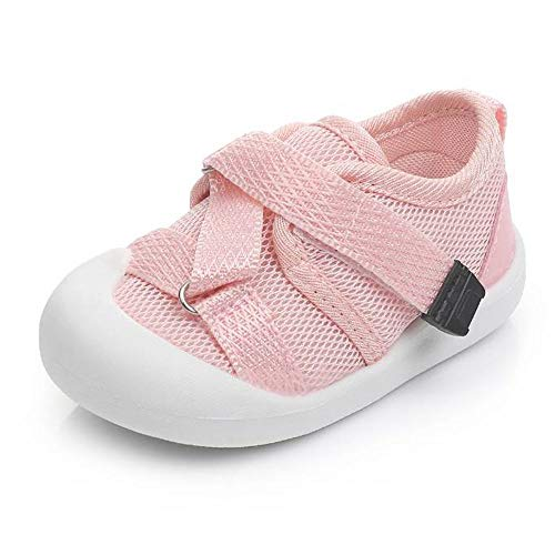 Lidiano Boys Girls Baby Mesh Non-Slip Rubber Sole Summer Sport Sandals Water Shoes for Infant & Toddler (7 Toddler, Pink)