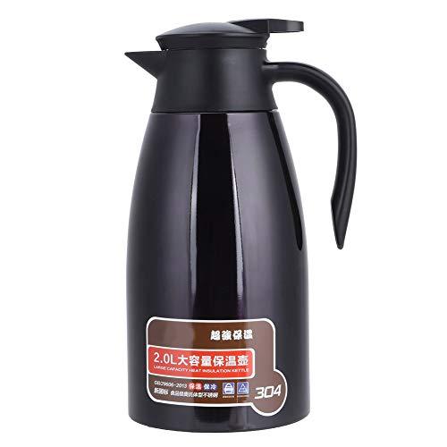 Jarra con aislamiento, jarra de agua con aislamiento de doble pared de acero inoxidable de 2L Vacuum Tetera térmica Cafetera Hervidor de agua para uso