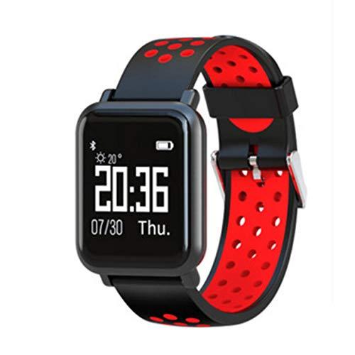 CloverGorge Pulsera Monitor de Salud cardíaca Banda Inteligente Podómetro Temperatura Altitud Pulsera Deportiva Reloj rastreador de Ejercicios