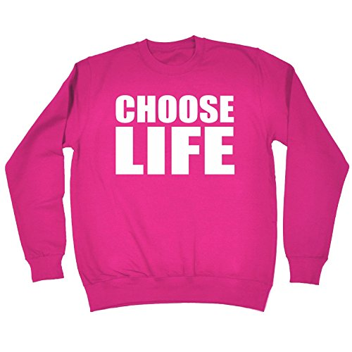 123t Funny Novelty Choose Life Jumper Sarcasm Joke Top Humour Nerd Geek Fancy Dress Film TV Birthday Gift Ideas Sweatshirt Couple Sweatshirts Best for Men Designs Women Offensive