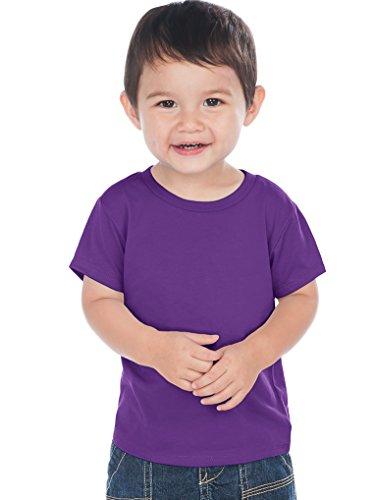 Kavio! Unisex Infants Crew Neck Short Sleeve Tee (Same IJC0432) Grape 18M