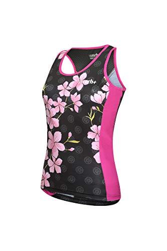 zerorh+ Fashion Lab W Top, Jersey Bike para Mujer, Mujer, Ecd0735 26Pxl, Sakura Black/Hot Pink, X-Large