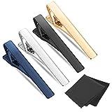 Selizo 4Pcs Tie Clip Tie Bar Tie Clips for Men