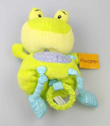 Inware 7180 - Spieluhr Frosch Froggy, grün/lila, 25 cm, Melodie: You are my sunshine