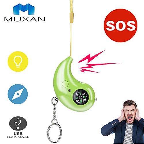 Fantastic Deal! MUXAN Personal Alarms 130 dB Safe Sound Anti-Wolf SOS Emergency Self Defense Securit...