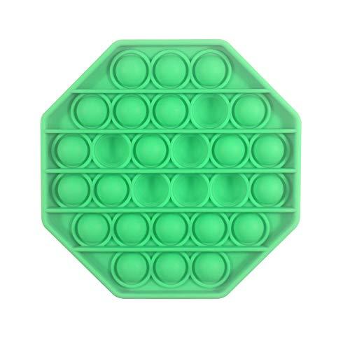 Pop its Fidget Toy-Green Push pop pop Bubble Sensory Fidget Toy, Autism Special Needs Stress Reliever Silicone Stress Reliever Toy,Squeeze Sensory Toy