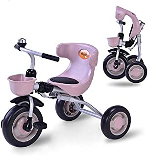 Children Bicycle, Children's Tricycle Tricycle Children Folding Pedal Bike Indoor Outdoor Multi-Function Boys and Girls Bi...