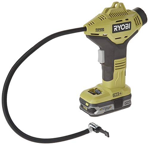 Ryobi P737 Genuine OEM One+ Cordless 0-150 PSI Lithium Ion Power Inflator Power Tool Kit (2 Piece Bundle: 1 x P737 Power Inflator, 1 x P107 Compact Lithium Ion Battery)
