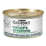 Nestlé Purina Gourmet Nature's Creation Comida húmeda para Gatos Pescado del océano 24 x 85 g - Pack de 24