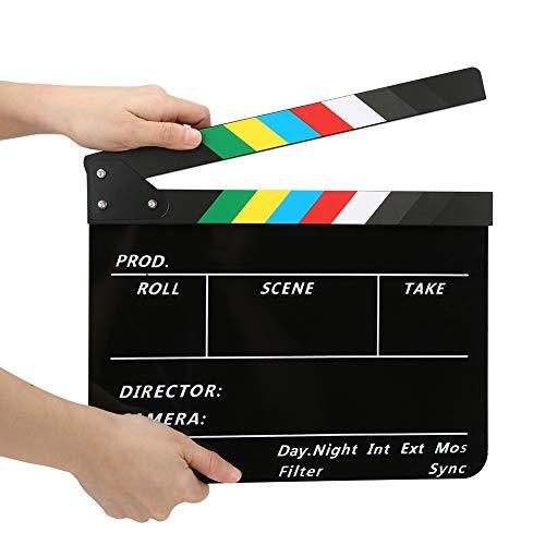 Tablero de claqueta de director de cine profesional, claqueta de escena de...